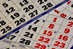 Calendar-a system of counting large periods of time, based on the frequency of movement of celestial bodies.Calendar is a list of stock photos