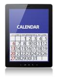 Calendar on tablet stock image