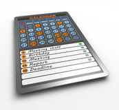 Calendar on tablet computer Royalty Free Stock Image