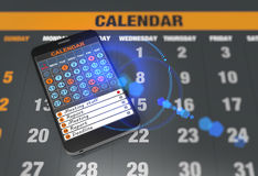 Calendar on tablet computer Royalty Free Stock Images