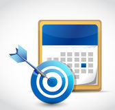 Calendar and target dart illustration design Stock Photo