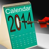 2014 Calendar Target Shows Year Organizer. 2014 Calendar Target Showing Year Projection Plan Royalty Free Illustration