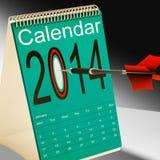 2014 Calendar Target Shows Year Organizer Stock Image