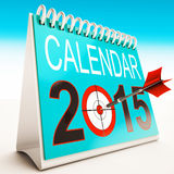 2015 Calendar Target Shows Year Organizer Stock Images