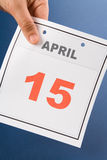 Calendar Tax Day Royalty Free Stock Photography