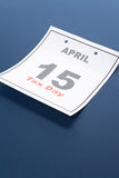 Calendar Tax Day Royalty Free Stock Photo