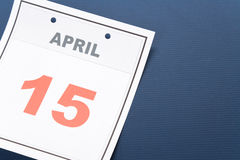 Calendar Tax Day Royalty Free Stock Images