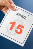 Calendar Tax Day Stock Photos