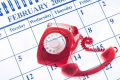 Calendar and Telephone Royalty Free Stock Image