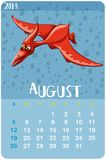 Calendar template for August Royalty Free Stock Images