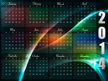 Calendar 2014 template Stock Photos