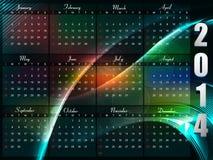 Calendar 2014 template Stock Photos