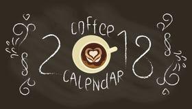Calendar 2018 template Stock Image