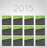 Calendar template Royalty Free Stock Photography