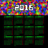 Calendar 2016 template design Stock Photography