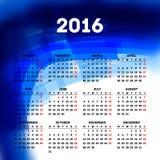 Calendar 2016 template design Royalty Free Stock Photo
