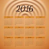 Calendar 2016 template design Stock Photo