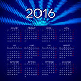 Calendar 2016 template design Stock Images