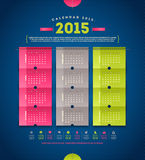 Calendar 2015. Template design with paper elements vector illustration