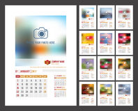 Calendar Template 2017 Royalty Free Stock Images
