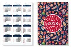 2018. Calendar template Stock Photos