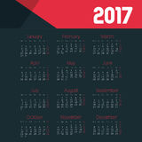 Calendar 2017 template icon. Vector illustration design Royalty Free Stock Photography