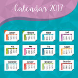 Calendar 2017 template icon. Vector illustration design vector illustration