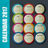 Calendar 2017 template icon. Vector illustration design Stock Image