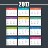 Calendar 2017 template icon. Vector illustration design Stock Photo