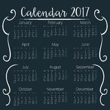 Calendar 2017 template icon. Vector illustration design Royalty Free Stock Images