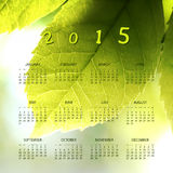 Calendar 2015 - Template Illustration with Blurred Background Stock Image