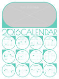 Calendar 2016 template Stock Photography