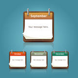 Calendar template, note pad conceptual design. Royalty Free Stock Image
