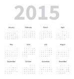 Calendar 2015 Template Royalty Free Stock Image