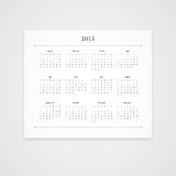2015 Calendar Template Royalty Free Stock Photos