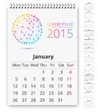 Calendar template Royalty Free Stock Photography