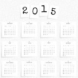 Calendar 2015 template Royalty Free Stock Photography