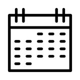 Calendar icon. Calendar thin line  icon Royalty Free Stock Photography
