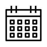 Calendar icon. Calendar thin line  icon Stock Photography