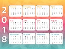 Calendar-three-color-2 Royaltyfri Fotografi