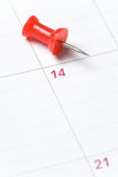 Calendar and Thumbtack Royalty Free Stock Photography