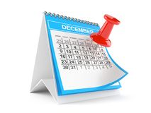 Calendar with thumbtack Stock Photo