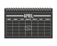Calendar timestamped tax isolated icon design Stock Images
