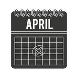 Calendar timestamped tax isolated icon design Stock Photography