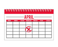 Calendar timestamped tax isolated icon design Royalty Free Stock Photos