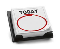 Calendar of Today Royalty Free Stock Photo