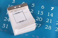 Calendar with the torn off pages Royalty Free Stock Photography