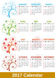 2017 calendar tree Stock Photo