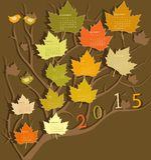 Calendar for 2015 Stock Photo