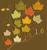 Calendar for 2016 Royalty Free Stock Photo